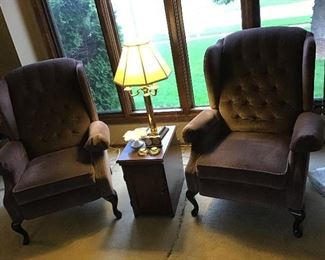 Pair of Recliners and End Table