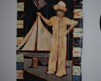 "Original Hemmerling painting on boards of ""Henry"""