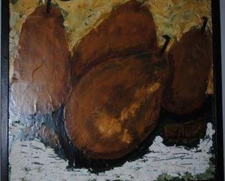 Original Hemmerling painting of pears