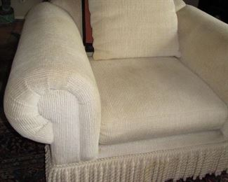 Corduroy chair with great boullion fringe