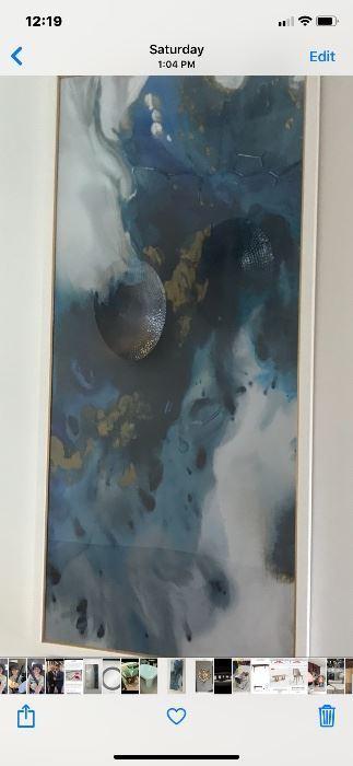 72 in tall acrylic art