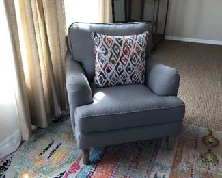 LOVELY GRAY OCCASIONS CHAIR