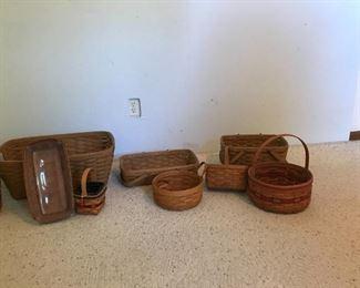 Several Longaberger baskets