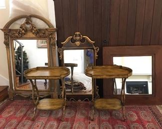 end tables and mirrors