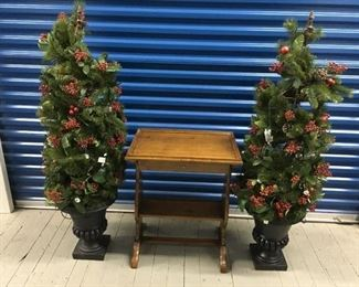 christmas trees and pierre deux table