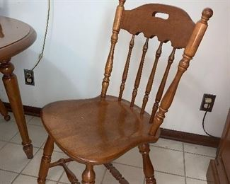 1 of 4 Ethan Allen maple chairs