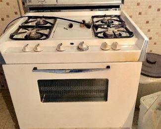 Vintage stove works fine