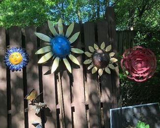 Fabulous and funky yard art.