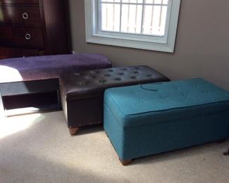 Ottomans - with storage and multiple colors