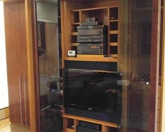 exotic woods wall unit