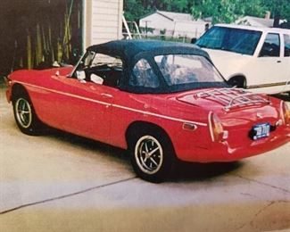 1977 MGB   107,000 Miles Engine REBUILT AT 85,000 2001:  Complete engine tune-up: New Plugs, Rotor  Cap, Wires, Coil New Battery Alternator rebuilt 2000:   4 new tires 1999:   Wood Steering Wheel installed Brakes replaced New Trunk Carpet Kit Clutch Slave Cylinder replaced 1998:   New Tonneau cover New Windshield glass  1995:   New Convertible Top Repainted red, original color was white.  Black bumper replaced with red.  Needs new fuel line, battery All repairs done by : Rich's Imported Car Service,  38860 Groesbeck Hwy, Clinton Twp. MI 48035 Heads Up Racing,  189 Grand Ave.  Mount Clemens  MI  48043