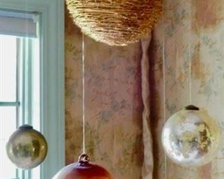 LOVE THESE WHIMSICAL PIECES--THE LARGE ONES WICKER PIECES HAVE LIGHTS INSIDE.