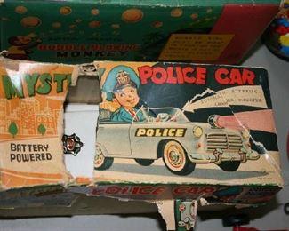 Tin Mystery Police Car