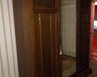 Huge Antique Oak Wardrobe