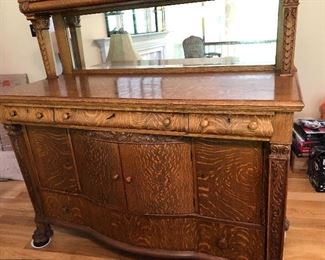 1900 oak buffet