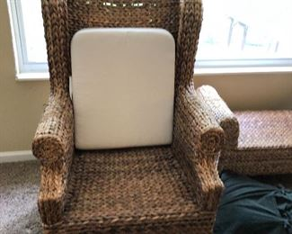 Palm leaf chair