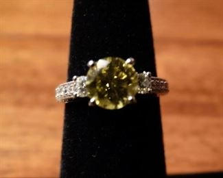 1.5 CT Yellow Diamond engagement ring...Beautiful