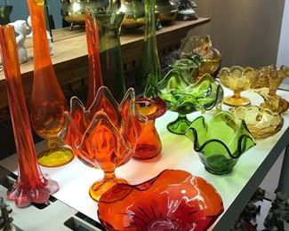 Colored glass pieces
