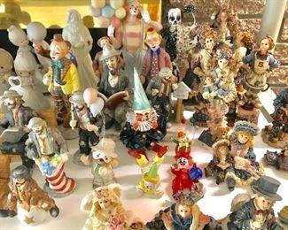 Clown figurines, Emmett Kelly clowns