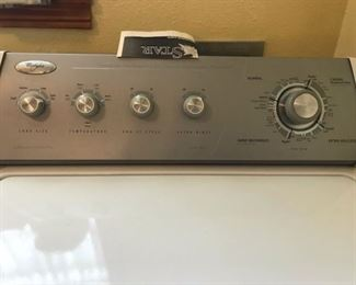 whirlpool washer controls