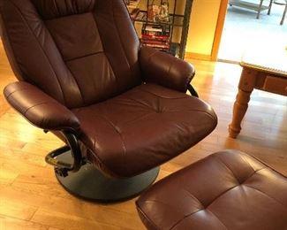 Palliser Leather Chair and Ottoman