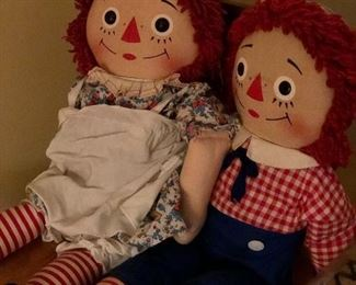 Raggedy Ann and Andy  We have hundreds ... Vintage and new!