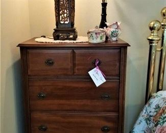 Quaint, small chest of drawers yet with large drawers