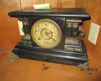 one of several mantle clocks