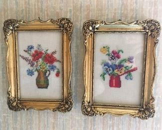 Some nice stitched art -- beautiful framing!