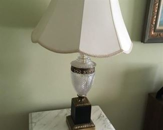 Another nice crystal lamp with brass base.