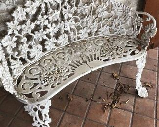 heavy -you move !! vintage iron bench