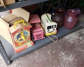 Old toys including Fisher Price