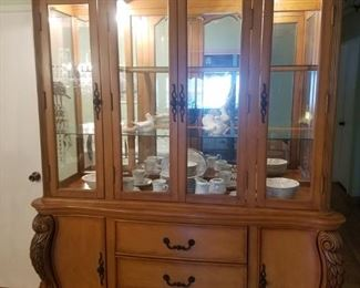 China cabinet with glass shelving