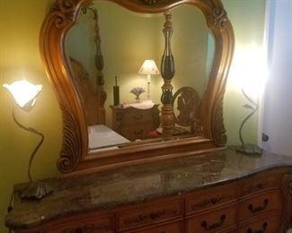 Beautiful dresser with mirror