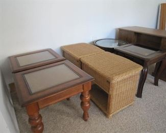 Wicker end tables Sold