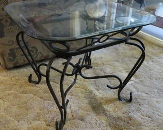 Glass top table - 1 of 2