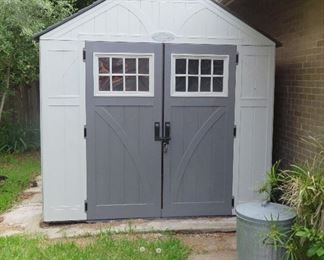 Like new Suncast storage shed - must bring help to dismantle and move!!