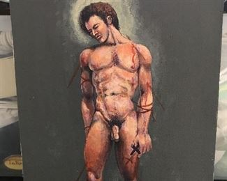 Contemporary Painting Nude Male
