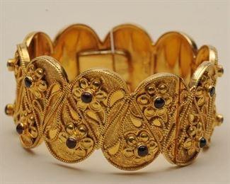 Large Gold Cuff Bracelet