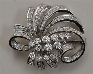 Platinum and Diamond Brooches