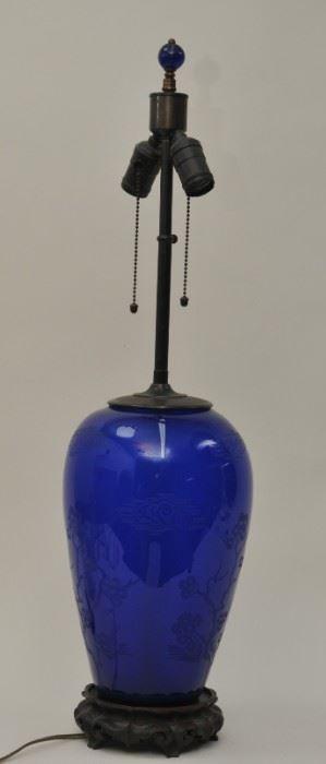 Steuben Jade Lamp
