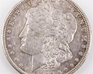 Lot 90a - Coin 1890-CC Morgan Silver Dollar Almost Unc.