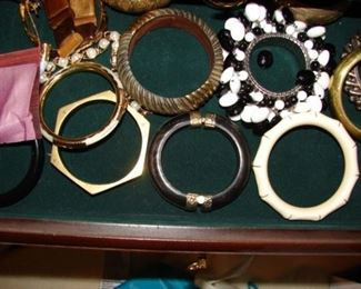 over 100 pieces of jewelry.  Real and custom