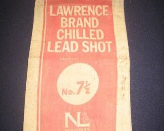 Many Lawrence brand chilled lead shot canvas bags