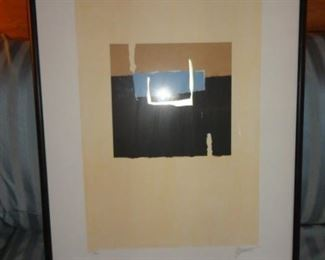 Framed Abstract art signed and numbered