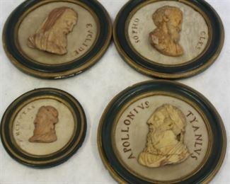 A Set of Grand Tour Marble Cameo Plaques