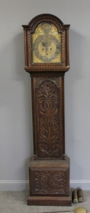 Antique English Tallcase Clock In Highly