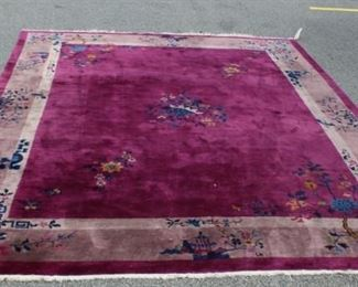 Art Deco Chinese Hand Woven Carpet