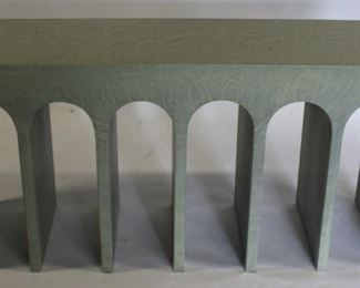 Custom Console With Arch Decoration