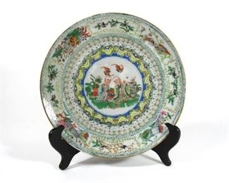 Famille Verte Plate with Arhats